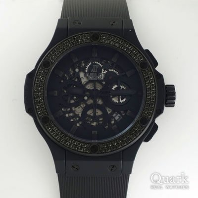 ウブロ アエロバン オールブラック ブラックダイヤモンド Ref.311.C1.1110.RX.1100