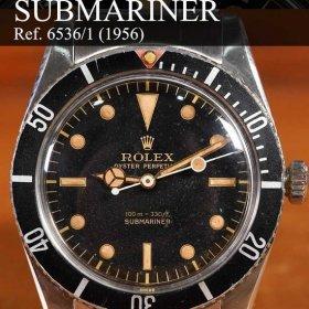 ロレックス サブマリーナー 6536-1 ブラックダイヤル レッドトップベゼル
